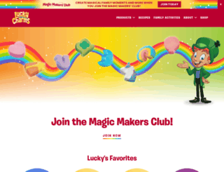 luckycharms.com screenshot