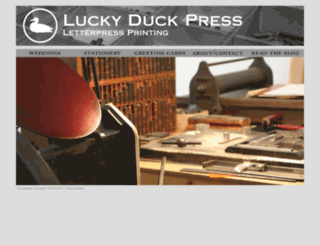 luckyduckletterpress.com screenshot