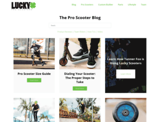 luckyscoot.com screenshot