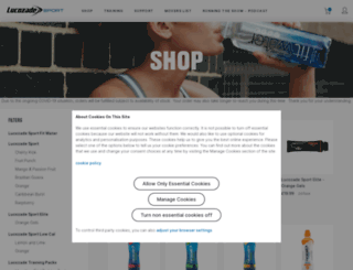 lucozadeshop.com screenshot