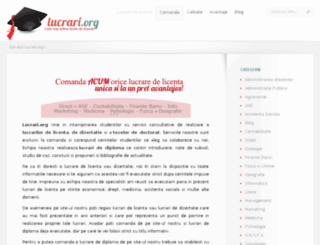 lucrari.org screenshot