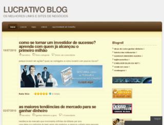 lucrativo.wordpress.com screenshot