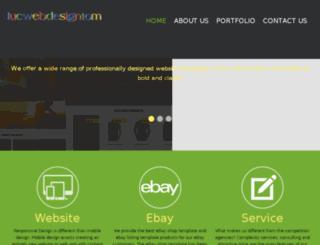 lucwebdesigntom.co.uk screenshot
