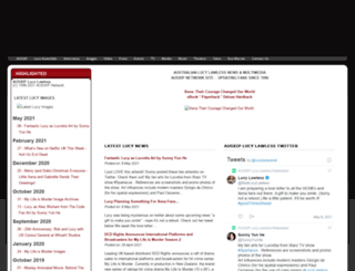 lucylawless.net screenshot