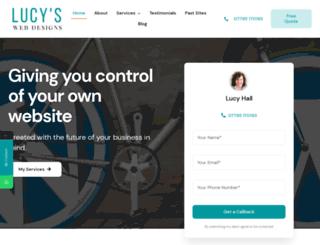 lucyswebdesigns.co.uk screenshot