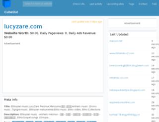 lucyzare.com.cubestat.com screenshot