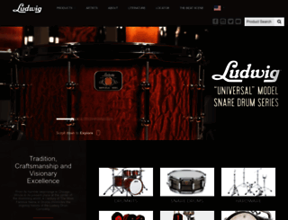 ludwig-drums.com screenshot