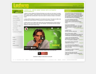 ludwigband.com screenshot