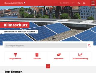 luebeck.de screenshot