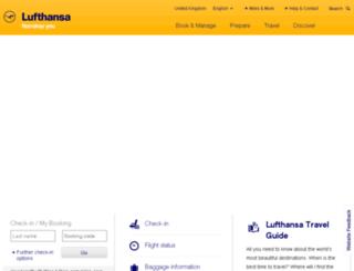 lufthansa.co.uk screenshot