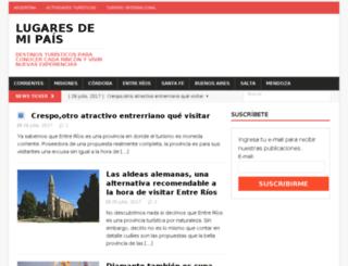 lugaresdemipais.com screenshot