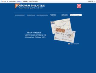 lugdunum-philatelie.com screenshot