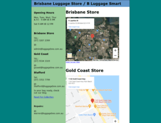 luggagebne.com.au screenshot
