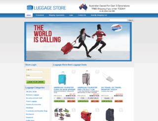 luggagestore.com.au screenshot