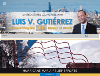 luisgutierrez.house.gov screenshot