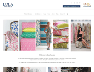 lulafabrics.co.za screenshot