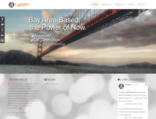 lumaoptics.com screenshot