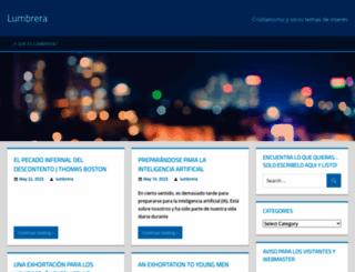 lumbrera.wordpress.com screenshot