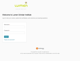 lumen.brightspace.com screenshot