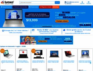 lumen.com.mx screenshot