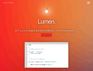 lumen.golaravel.com screenshot