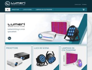 lumeri.it screenshot