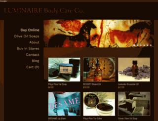 luminairebodycare.com screenshot