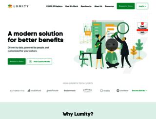 lumity.com screenshot