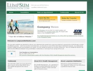lumpsumdistribution.com screenshot