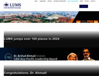 lums.edu.pk screenshot