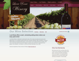 lunarossawinery.com screenshot