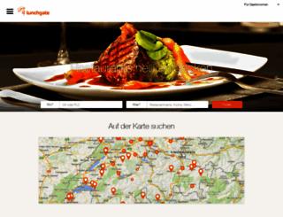 lunchgate.ch screenshot