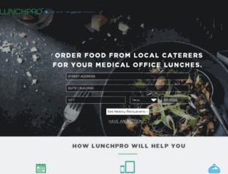 lunchpro.com screenshot
