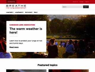lung.ca screenshot