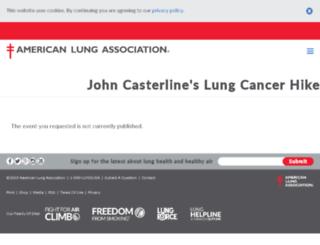 lungcancerhike.org screenshot