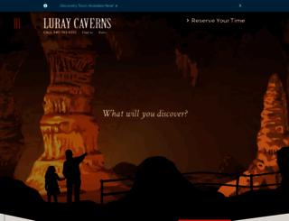 luraycaverns.com screenshot