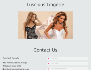 lusciouslingerie.co.za screenshot
