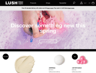 lush.co.uk screenshot