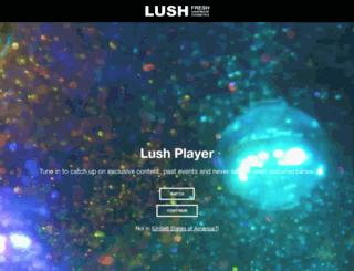 lush.eu screenshot
