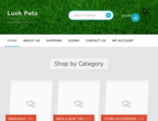 lushpets.com.au screenshot