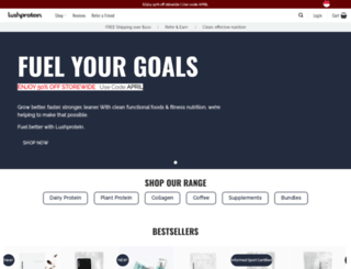 lushprotein.com screenshot