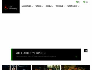 lut.fi screenshot