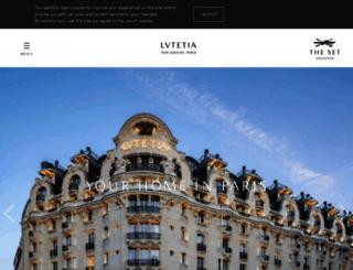 lutetia-paris.com screenshot