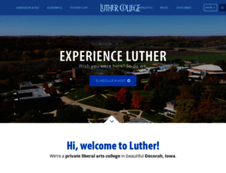 luther.edu screenshot