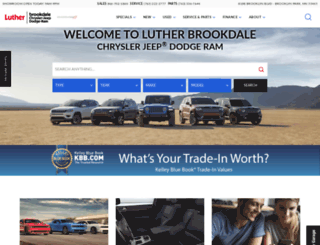 lutherbrookdalechrysler.com screenshot