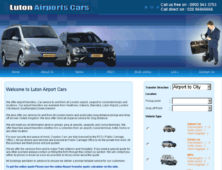 lutonairportscars.co.uk screenshot