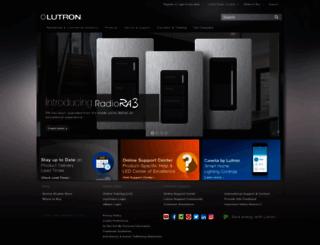 lutron.com screenshot