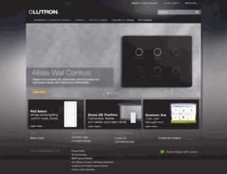 lutron.fr screenshot
