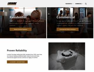 luxaire.com screenshot