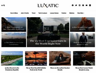 luxatic.com screenshot